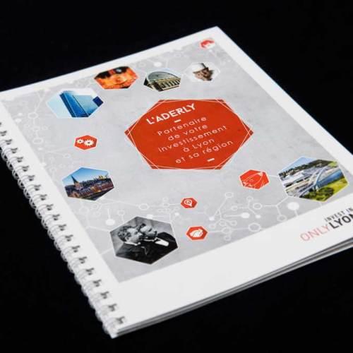 Design et graphisme de la brochure Aderly Lyon