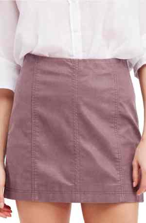 Mulberry faux leather skirt