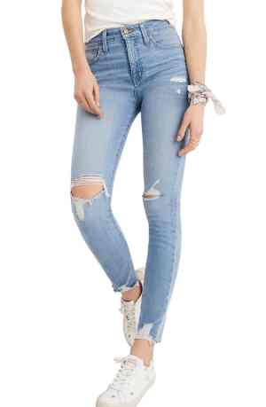 Made well distressed skinnies