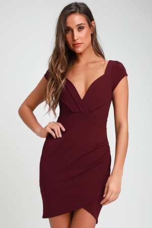 Lulus sweetheart dress red