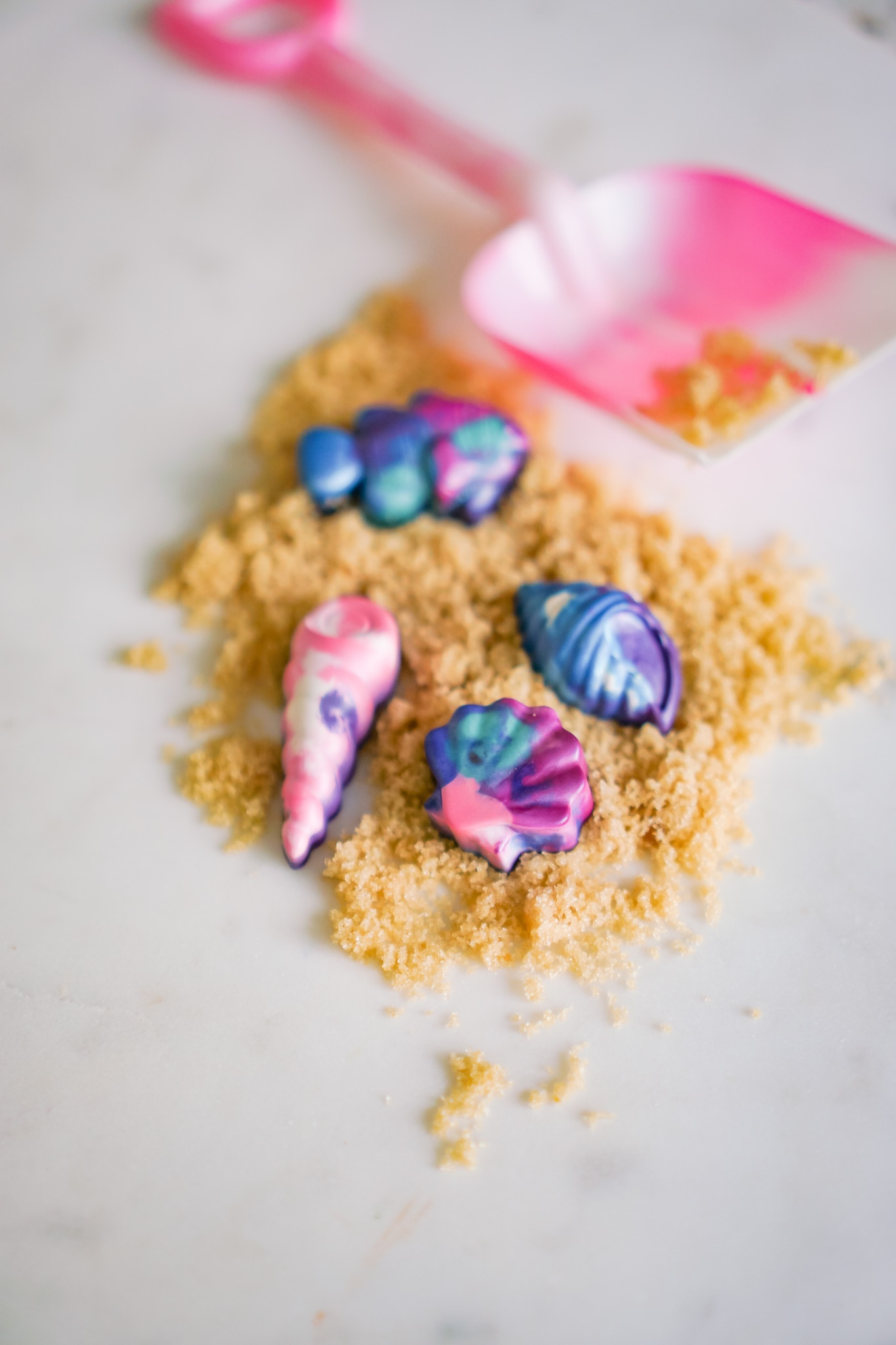 Seashell or crayons? How to melt crayons into new and improved shapes!
