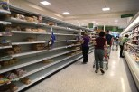 HOMESTEAD, FL - SEPTEMBER 05: Nearly empty shelves are seen as people stock up on bread in preparation for Hurricane Irma on September 5, 2017 in Homestead, Florida. Preparations are underway as Irma has intensified to a Category 5 hurricane and landfall in Florida is a possibility. Joe Raedle/Getty Images/AFP == FOR NEWSPAPERS, INTERNET, TELCOS & TELEVISION USE ONLY ==