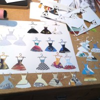 More die cutting ... fashion show!