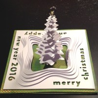 Landscape Christmas Card made with the Silhouette Curio