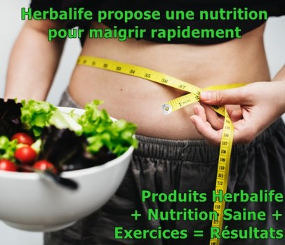 Produits Herbalife + Nutrition Saine + Excercices = Résultats