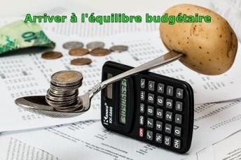 arriver à l'équilibre budgétaire