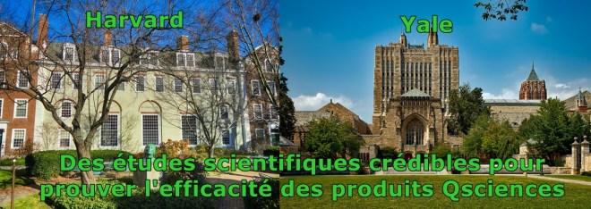 Yale et Harvard ont fait des études scientifiques sur qsciences produits