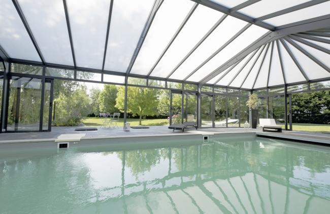 reportage photo piscine et abri près de Toulouse