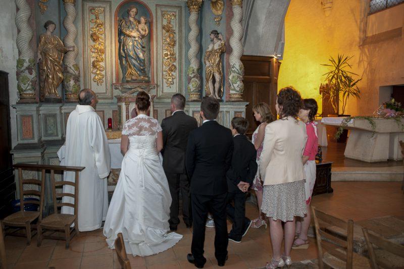 mariage à l'église Pessac