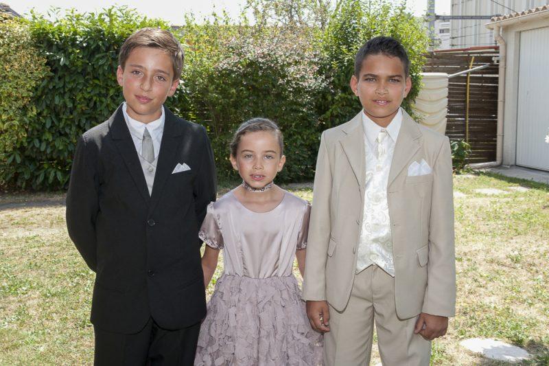 photos des enfants d'honneur mariage