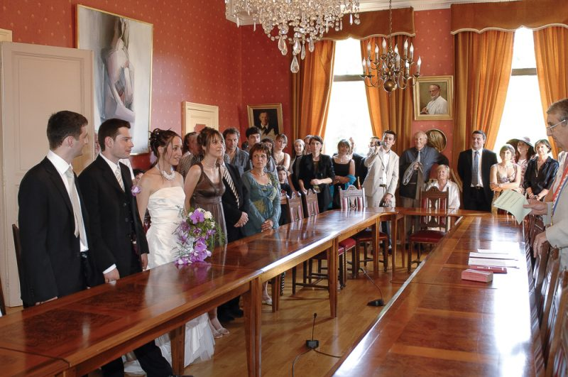 photo mariage civil en Gironde