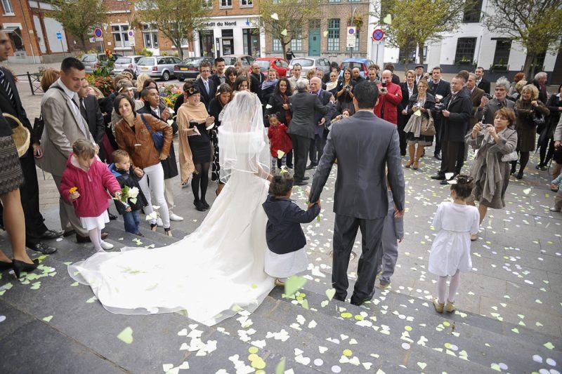 Photo des mariés à saint jean d'illac près de Pessac