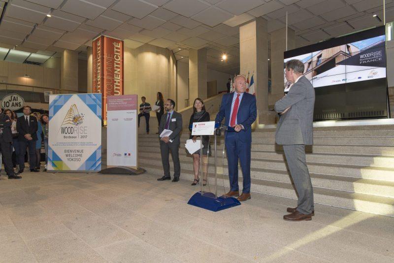 photo visite officielle et inauguration Pessac Bordeaux