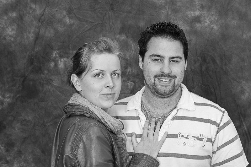 portrait de couple en noir et blanc