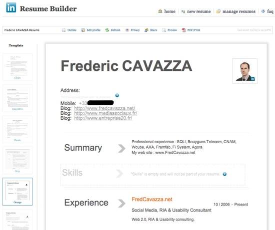 ResumeBuilder