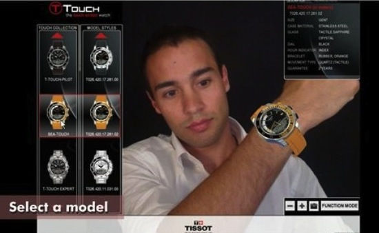 Tissot introduces a new 3D augmented reality application on its website and brings watches to the virtual world.  Consumers will be able to try on a 3D virtual watch and interact with the innovative features of the brand's pioneering Touch collection. Enhancing the importance of innovation for Tissot, this new technology perfectly matches the Touch collection spirit.  (PRNewsFoto/Tissot)