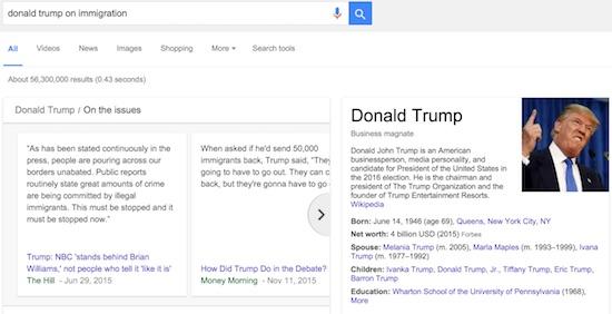 google-search-Trump