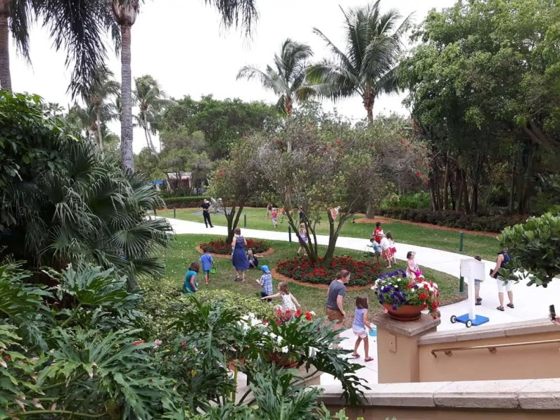 Easter Egg Hunt on Easter Sunday at Ritz Carlton Hotel, Naples Florida