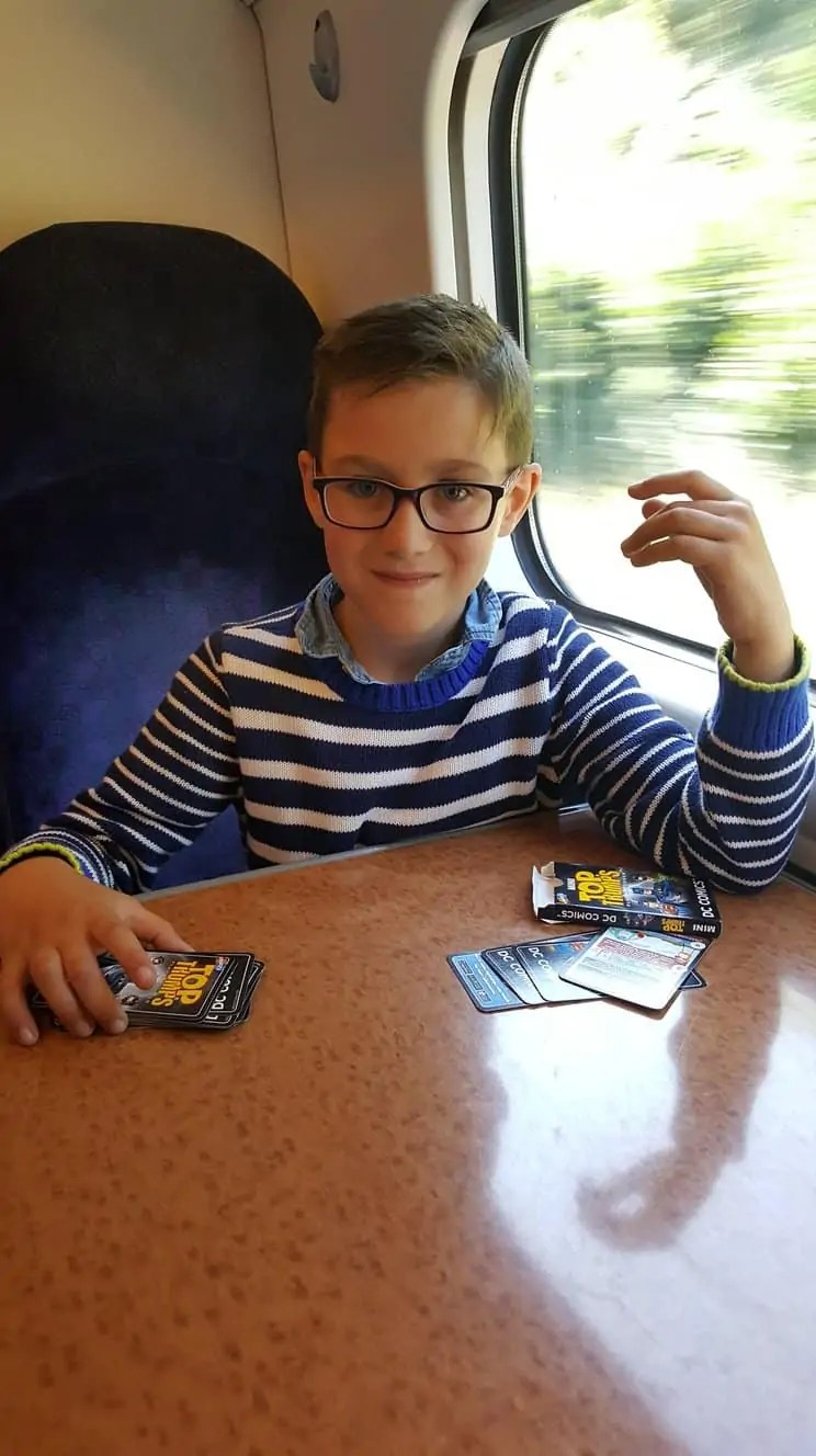 Playing games on the train to London