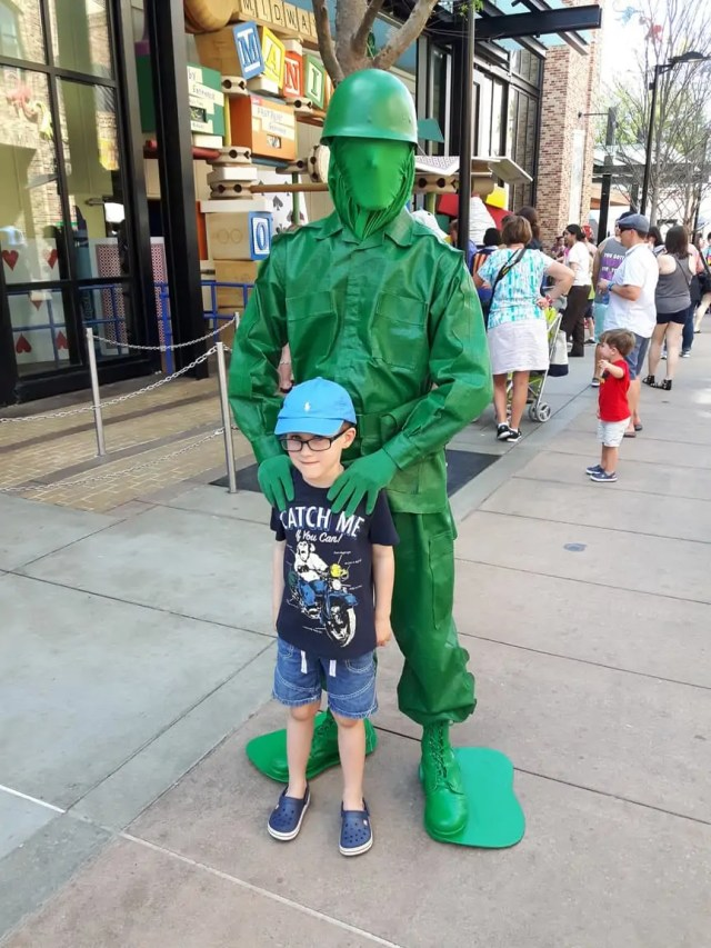 Meeting a toy soldier at Disney Parks Orlando