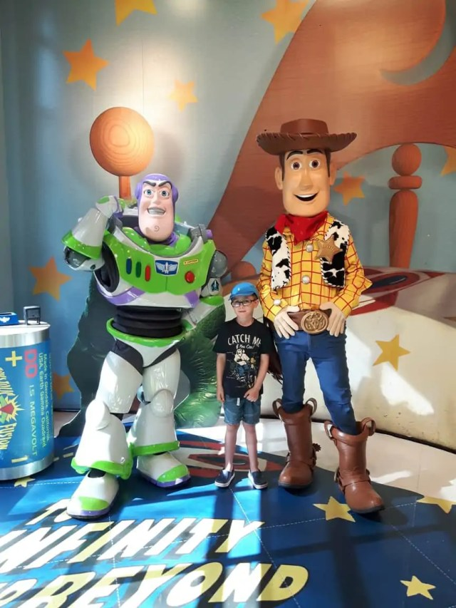 Meeting Woody and Buzz at Disney