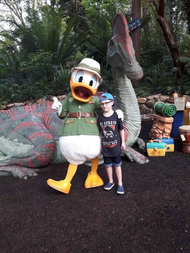 Meeting Donald Duck at Disney World Florida