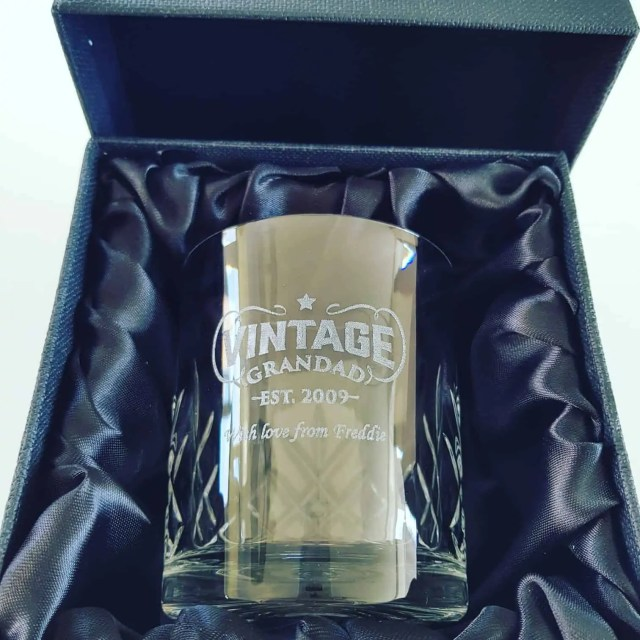 Personalised Grandad Whisky Glass