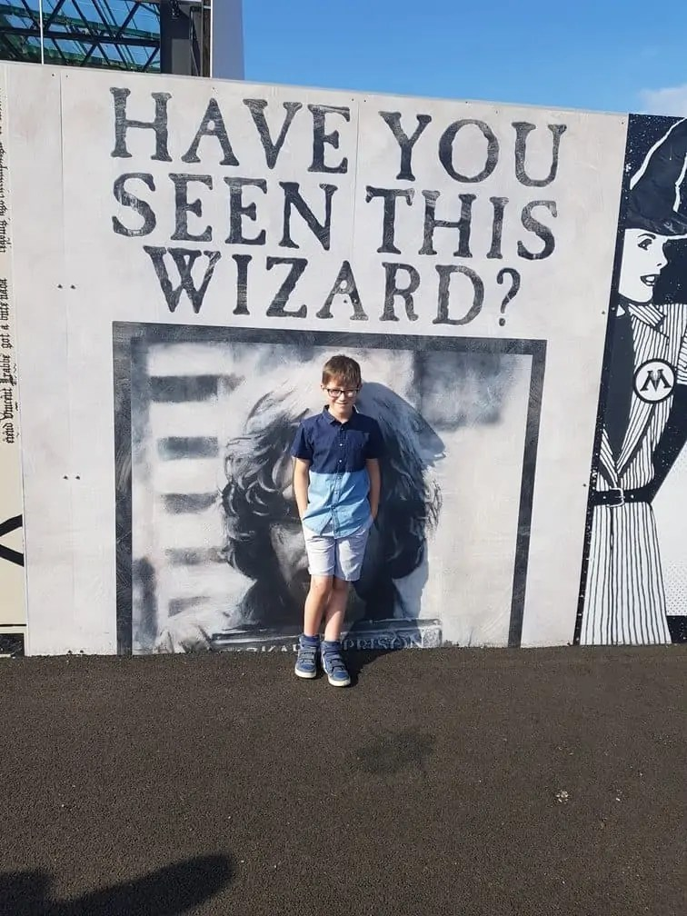 Have you seen this wizard? Outside of Harry Potter Tour Warner Bros London