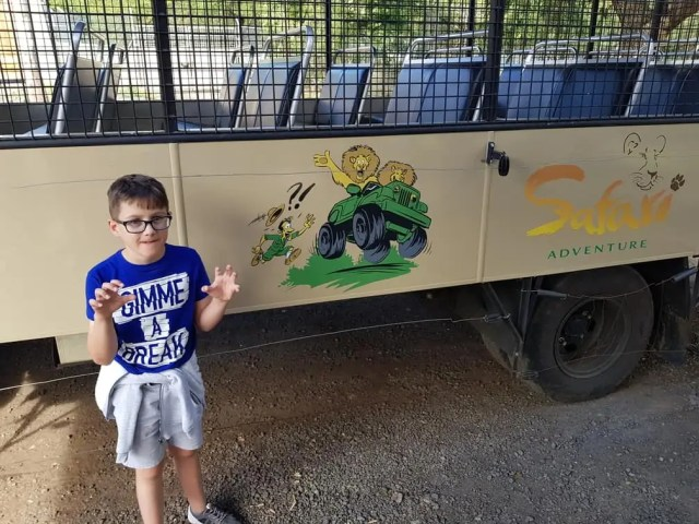 Lion and Tiger Drive Through Casela Safari Park