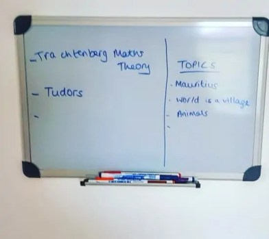 Homeschool Room - White Board #homeed #homeeducation