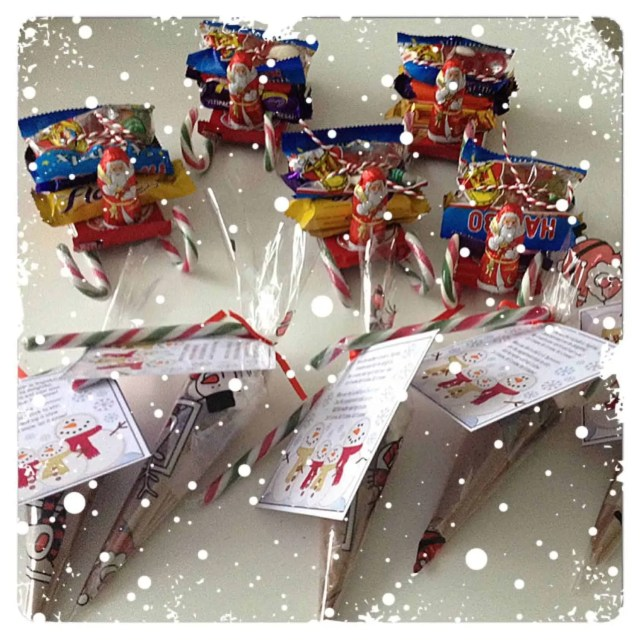 North Pole Breakfast Candy Santa Sleigh