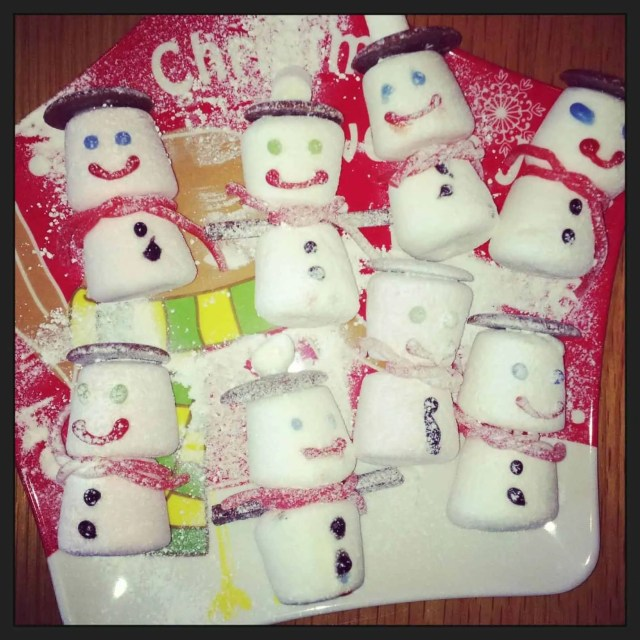 North Pole Breakfast Menu - Marshmallow Snowmen