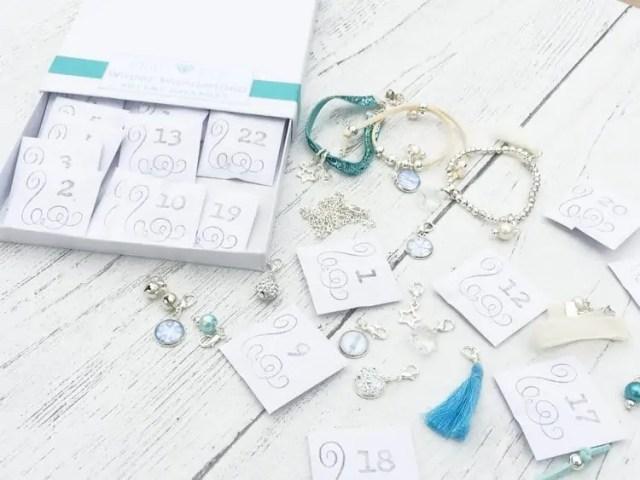 Charm bracelet advent calendar