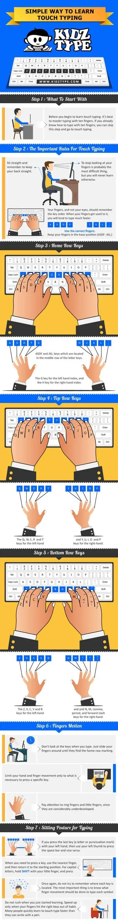 Learn how to touch type with Kidztype