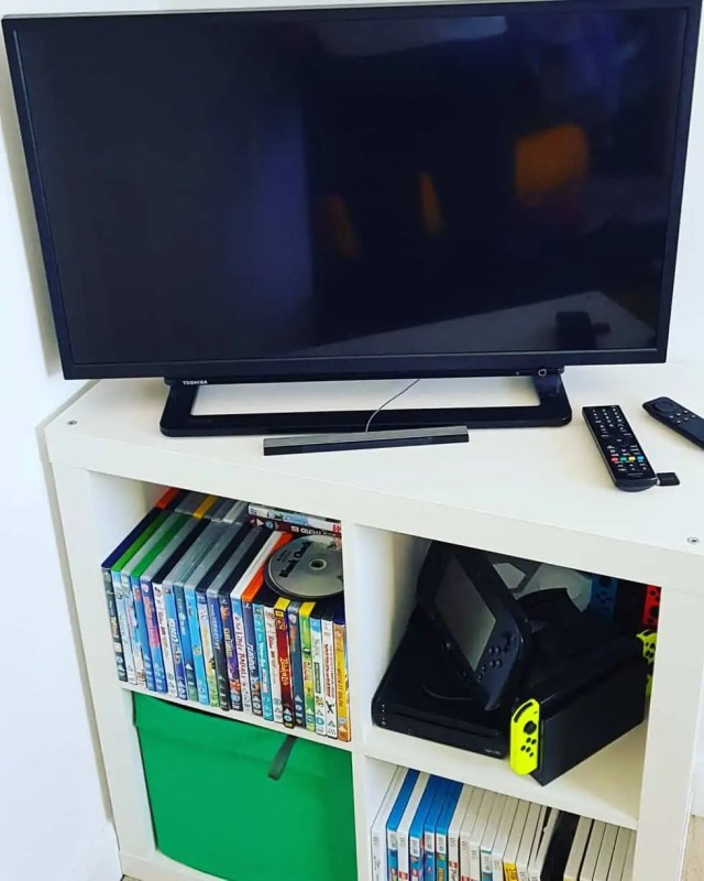 Tv and Console for Gaming Room