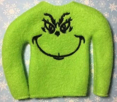 Elf on the shelf accessories Grinch jumper