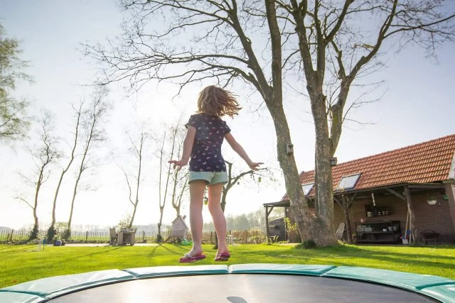 Tips for Homeschooling - Do lots of exercise trampoline