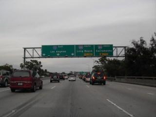 Photo de l'autoroute allant à Los Angeles