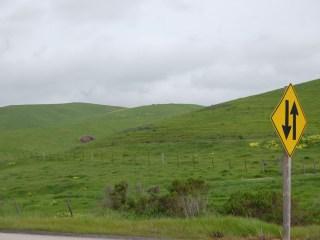 Paysage vu sur la route entre SF et Santa BARBARA