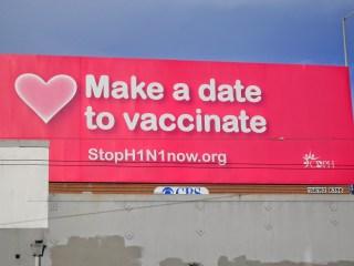 Une affiche à San Francisco sur le H1N1