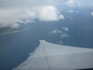 Vue aérienne sur l'aéroport de Mahé