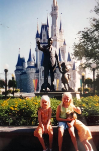 Sarah Brookhart and her sisters at Walt Disney World