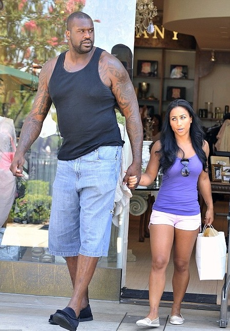 Apologise, Shaq and his girlfriend pity