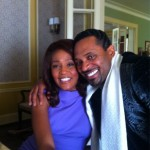 Whitney Houston, Jordin Sparks, and Mike Epps On the Set Of 'Sparkle'