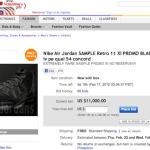 "@Jumpman23 Air Jordan 11 Retro ""Blackout"" : Sales On Ebay For $11,000"