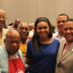Congressman John Lewis and Praise 102.5 Darlene McCoy, attend Real Men Cook