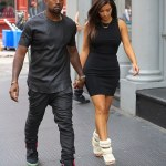 Kim Kardashian Spotted Wearing Shoes Designed by Kanye