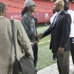 Future Greets CEO John Grant 100 Black Men at Atlanta Football Classics Rehearsal