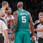 Video: Kevin Garnett & Carmelo Anthony Post Game Argument