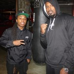 "Artist ""Jaquise"" in the Boxing Rink with Yahya McClain??"